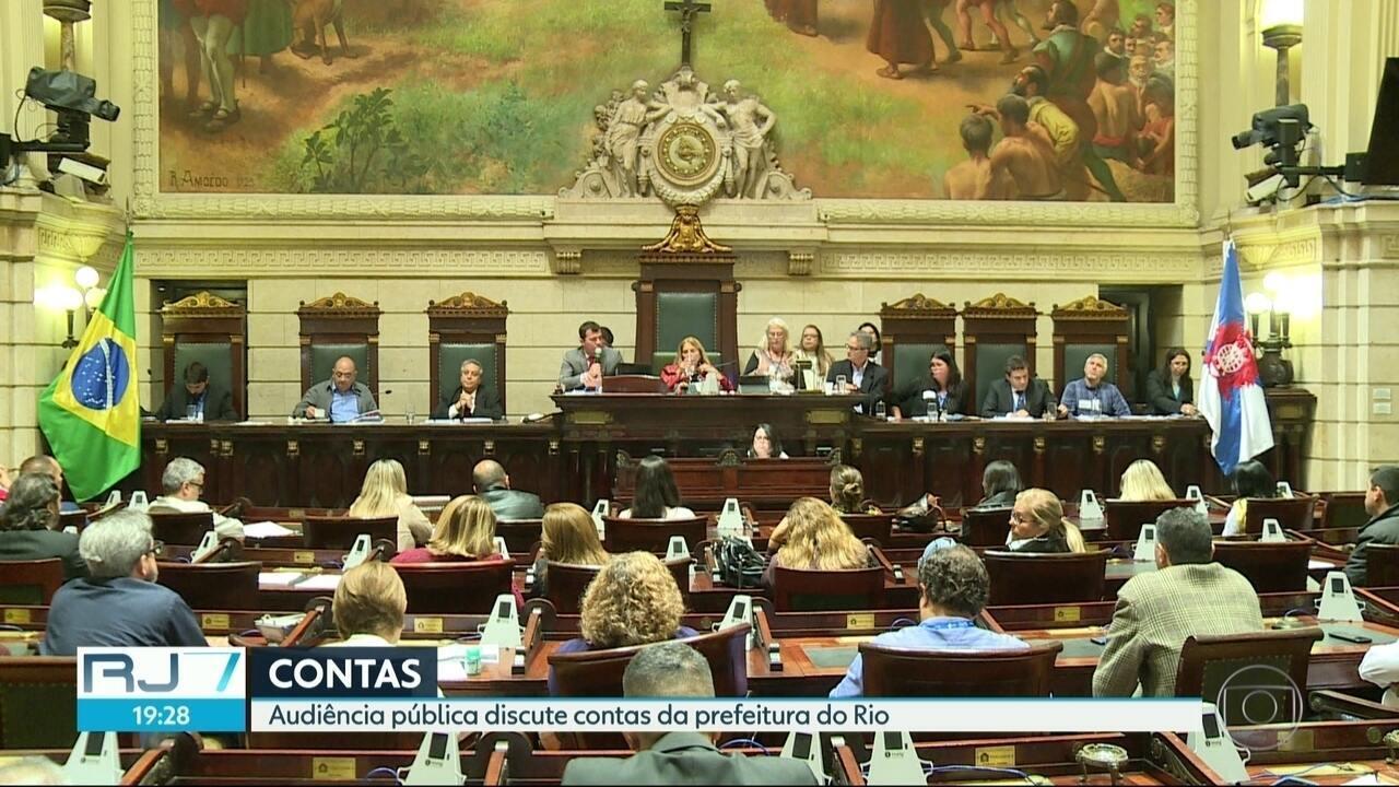 Audiência pública discute contas da prefeitura do Rio