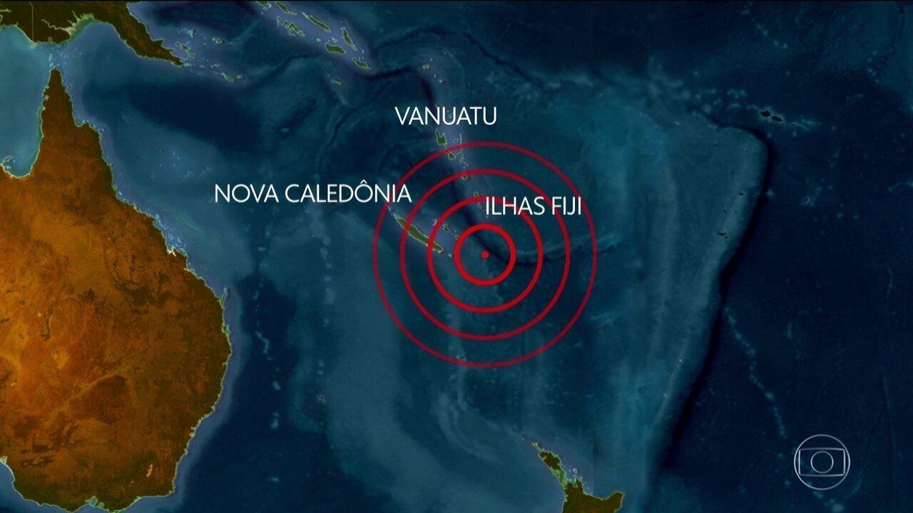 Resultado de imagem para Forte terremoto sacode o Pacífico Sul e provoca alerta de tsunami para Fiji,
