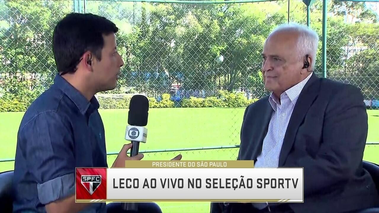 Presidente do São Paulo fala sobre liderança no Brasileirão e ídolos como dirigentes