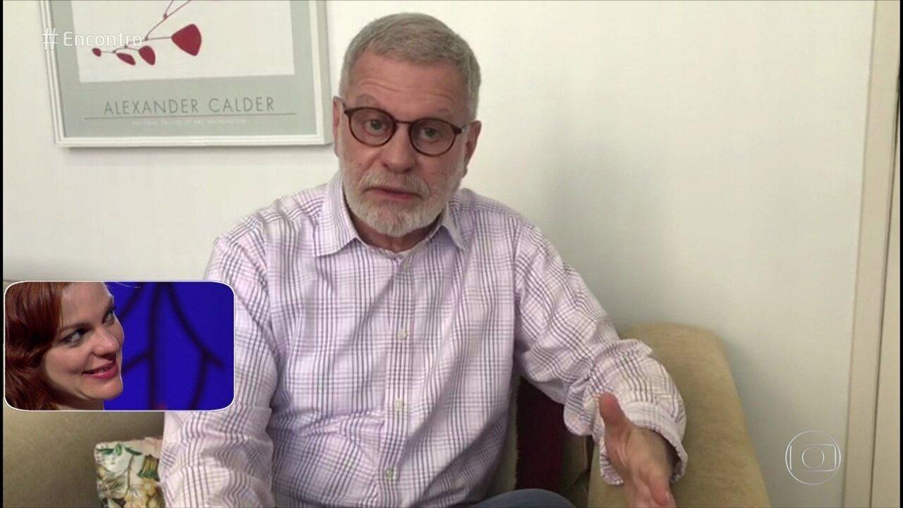 Maria Eduarda de Carvalho recebe recado surpresa do pai no 'Encontro'