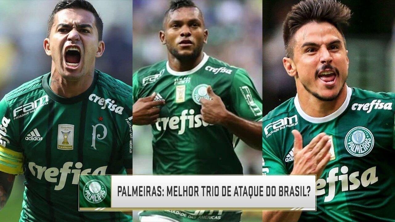 Melhor do Brasil  Comentaristas falam sobre o trio de ataque do Palmeiras 2e36882f4c5f9