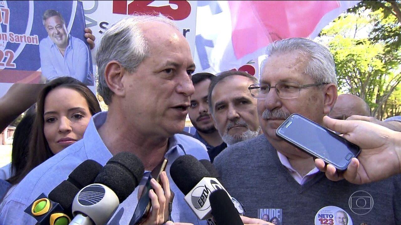 Candidato do PDT, Ciro Gomes faz campanha em Campinas