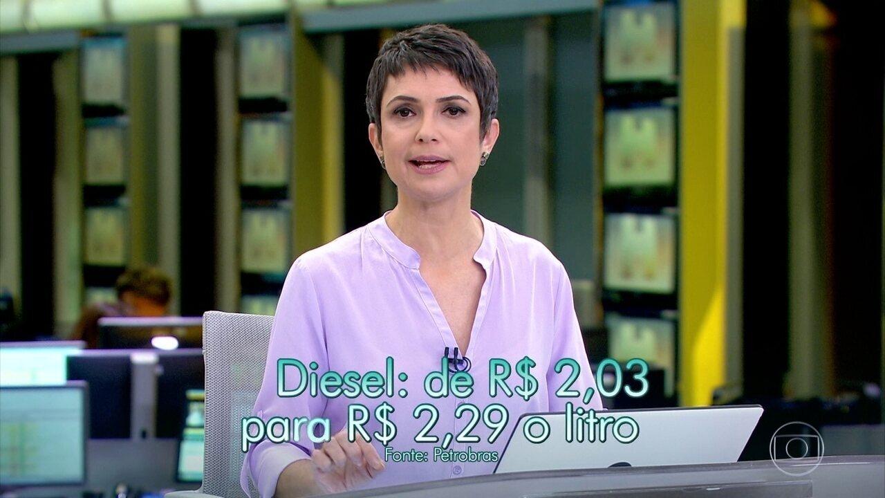 Preço médio do diesel nas refinarias sobe para R$ 2,29 o litro