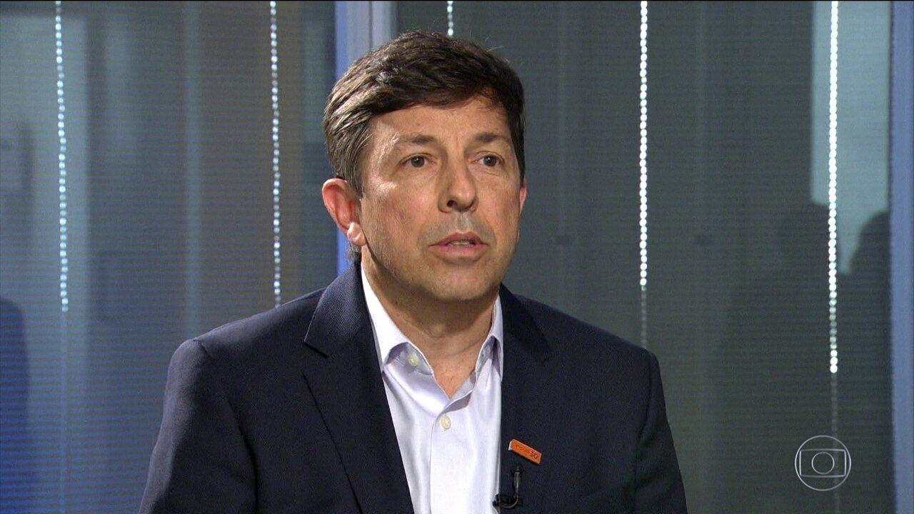 Jornal Nacional entrevista João Amoêdo (Novo)