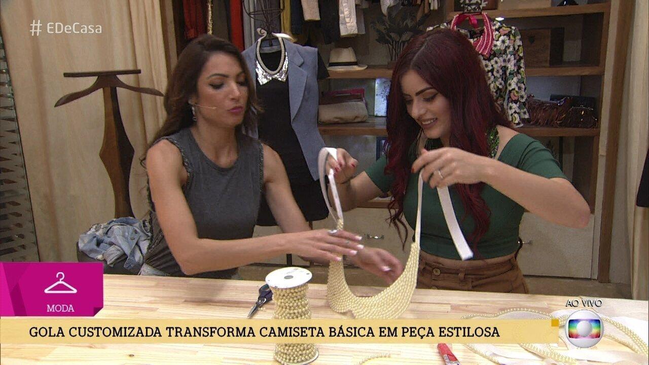 Kim Carvalho ensina a fazer golas customizadas para camisetas