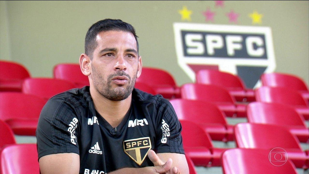 Jogador decisivo do São Paulo, Diego Souza diz que vai encerrar a carreira no Tricolor