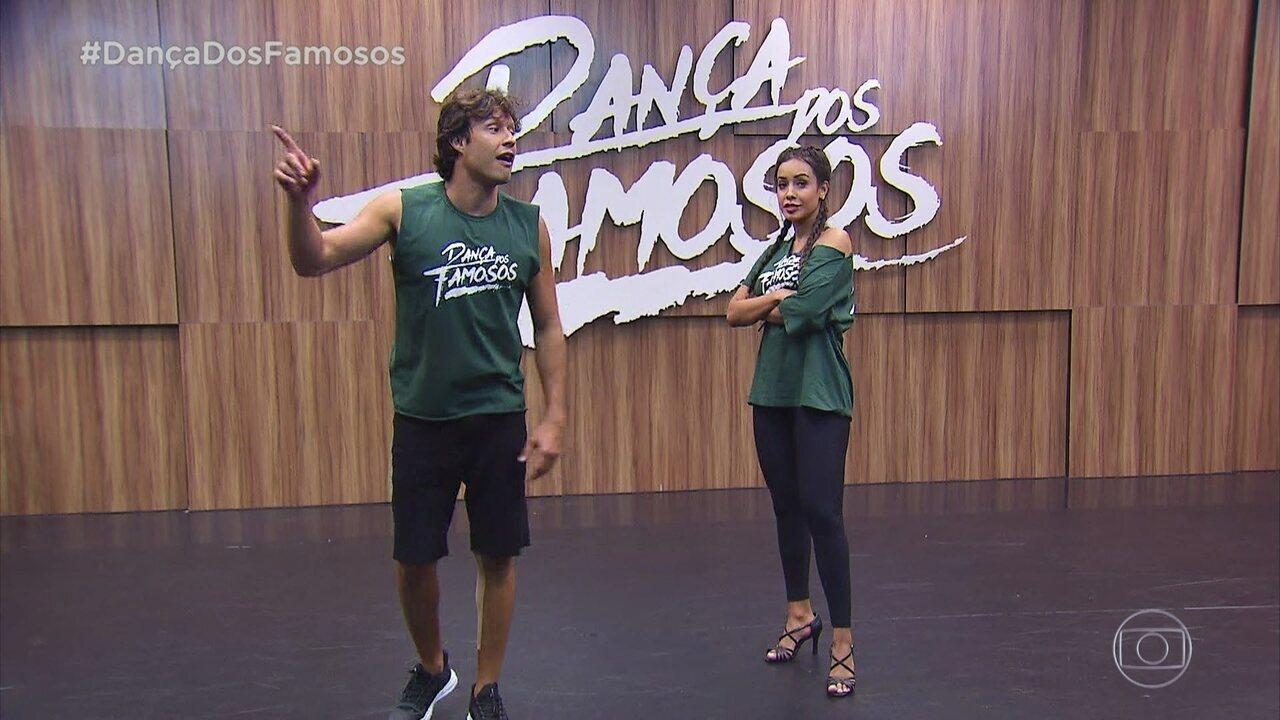 Veja como foram os ensaios Nando Rodrigues e Tatiana Scarletti