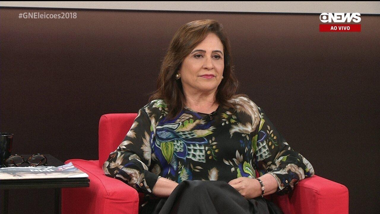 Central das Eleições recebe Kátia Abreu, candidata a vice na chapa de Ciro Gomes