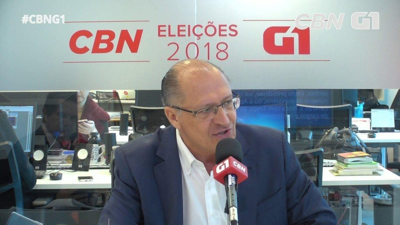 Alckmin fala sobre segurança pública