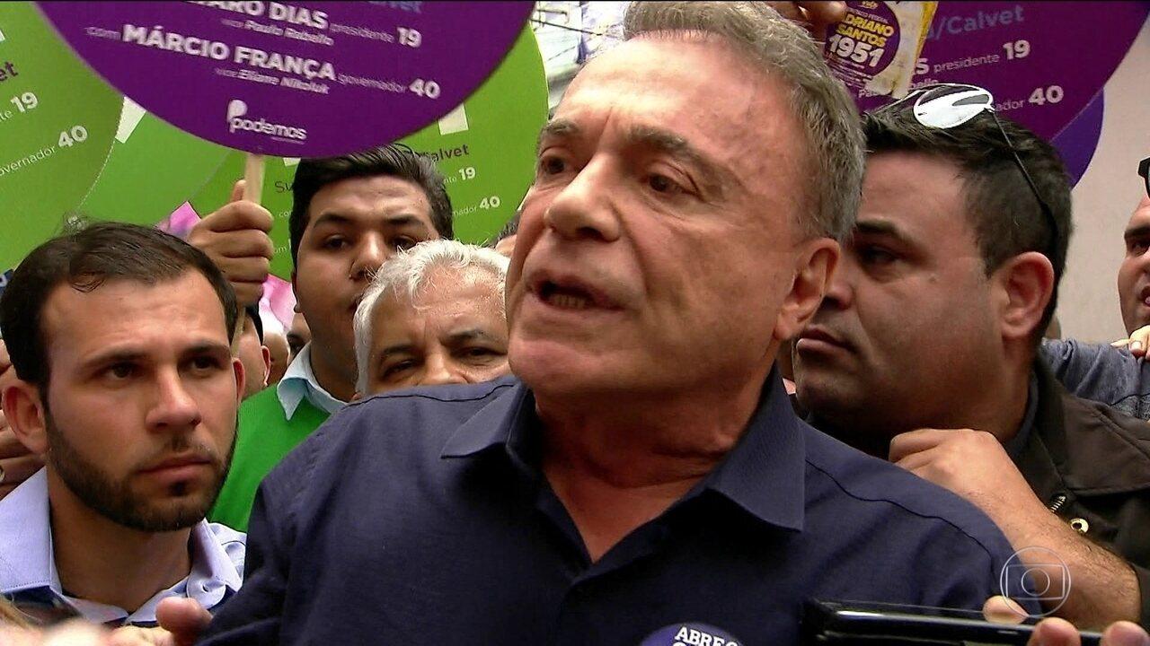 Candidato do Podemos, Alvaro Dias, faz campanha São Paulo e Teresina