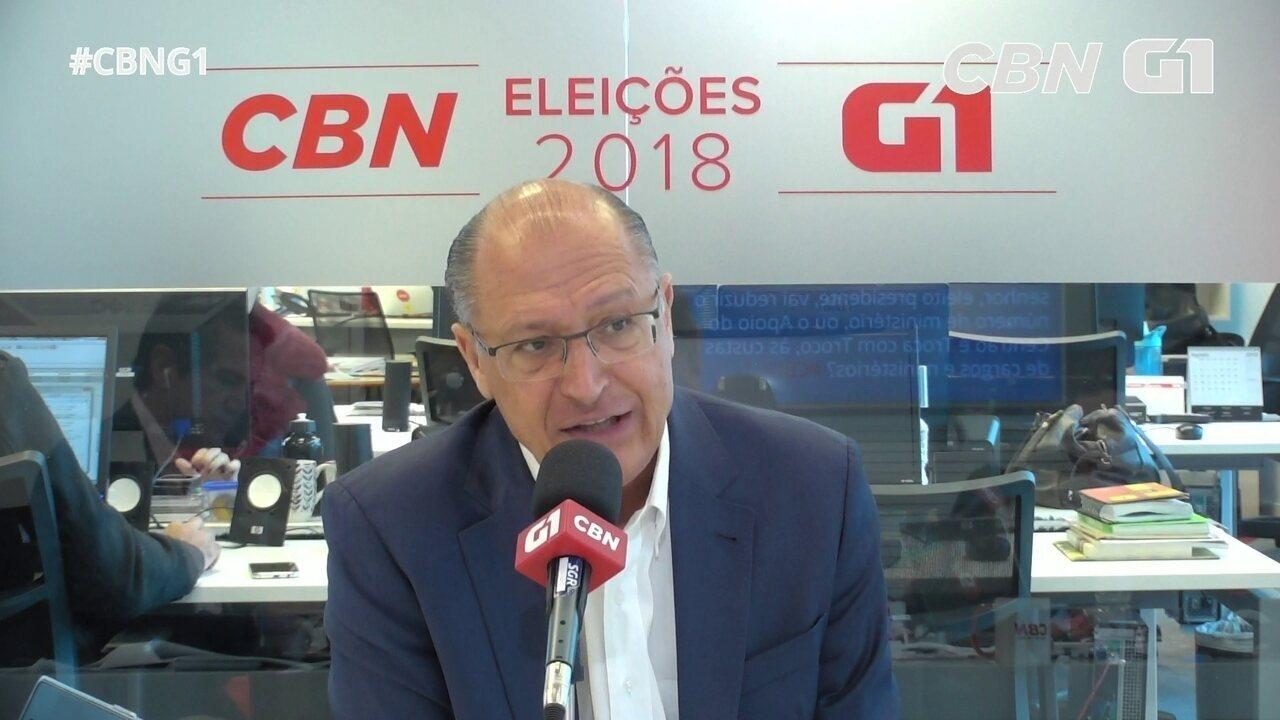 Geraldo Alckmin responde a perguntas sobre o Monitor da Violência