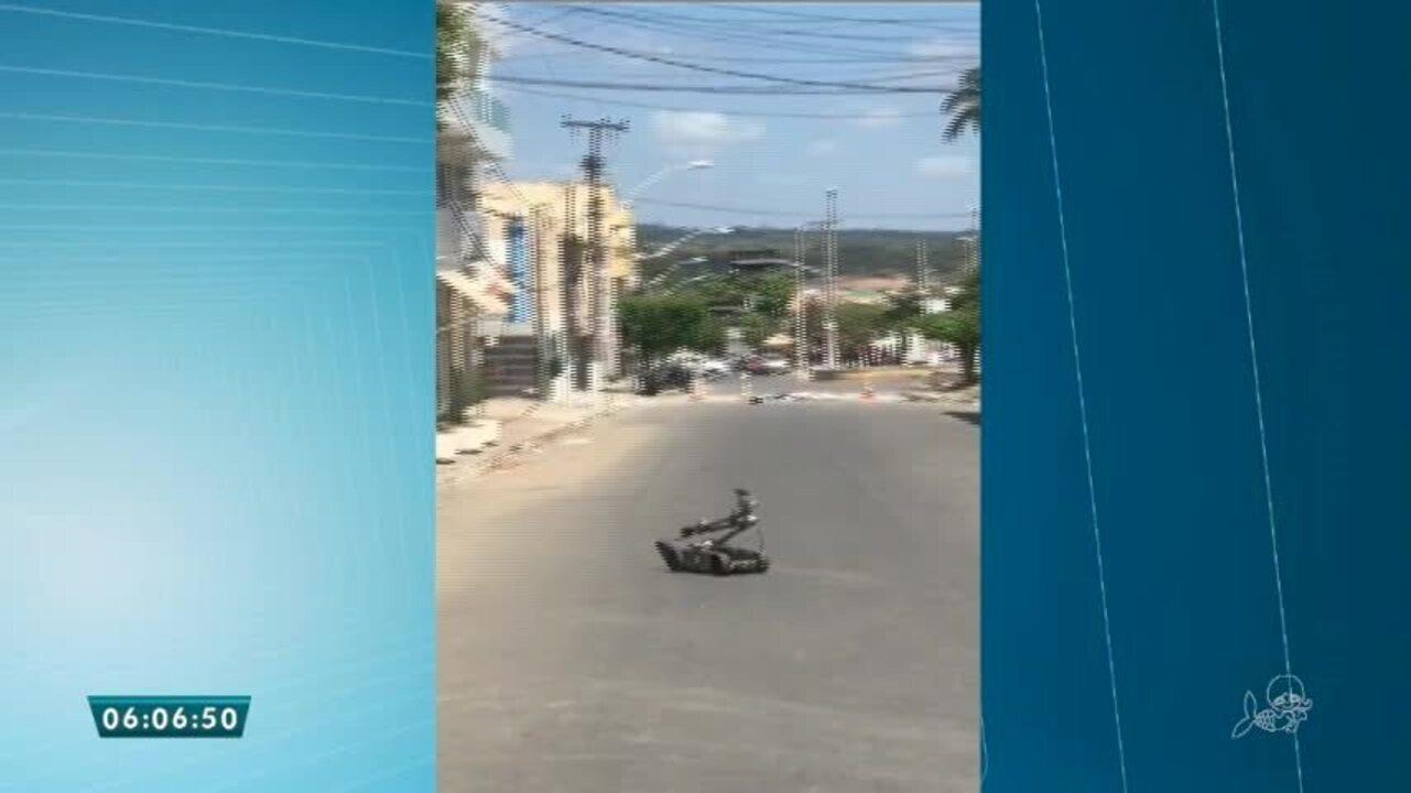 Polícia detona explosivos deixados por bandidos no Ceará