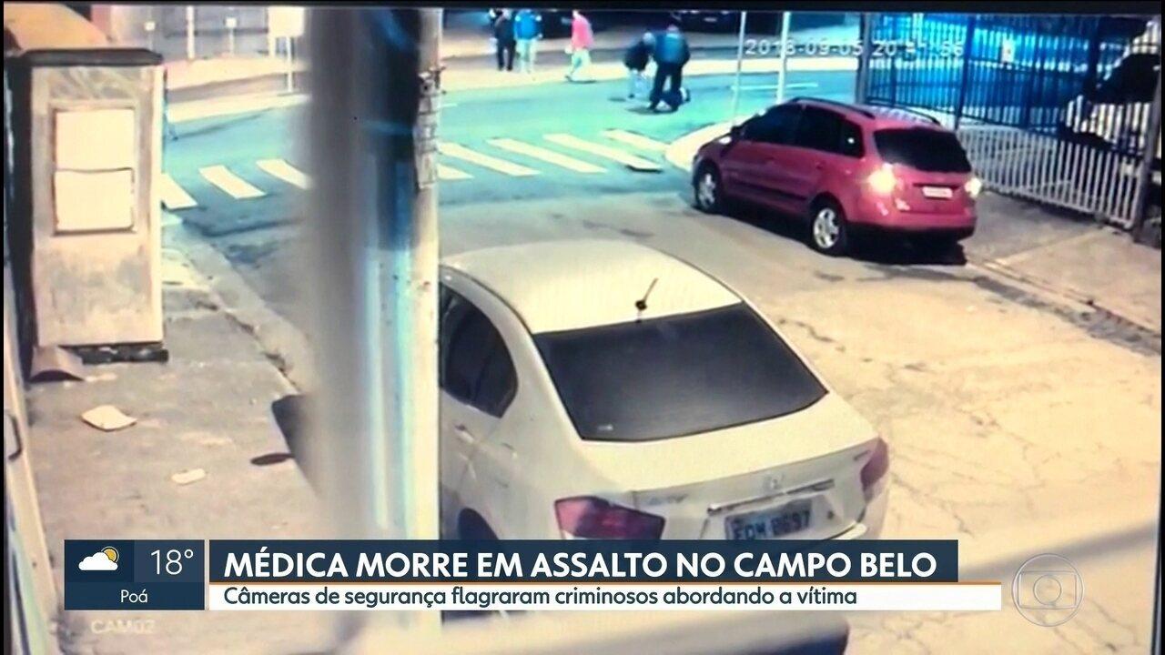 Médica morre em assalto no Campo Belo