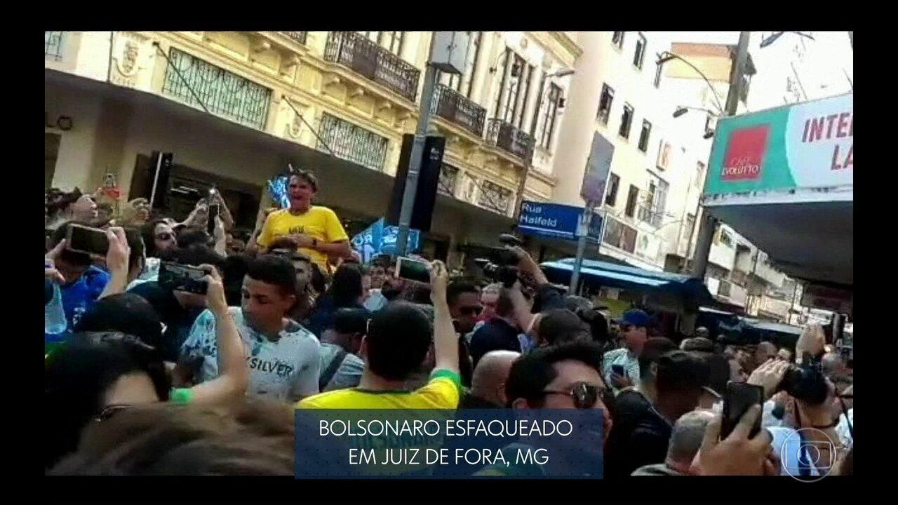 Veja no JN: Jair Bolsonaro, do PSL, é esfaqueado em ato de campanha