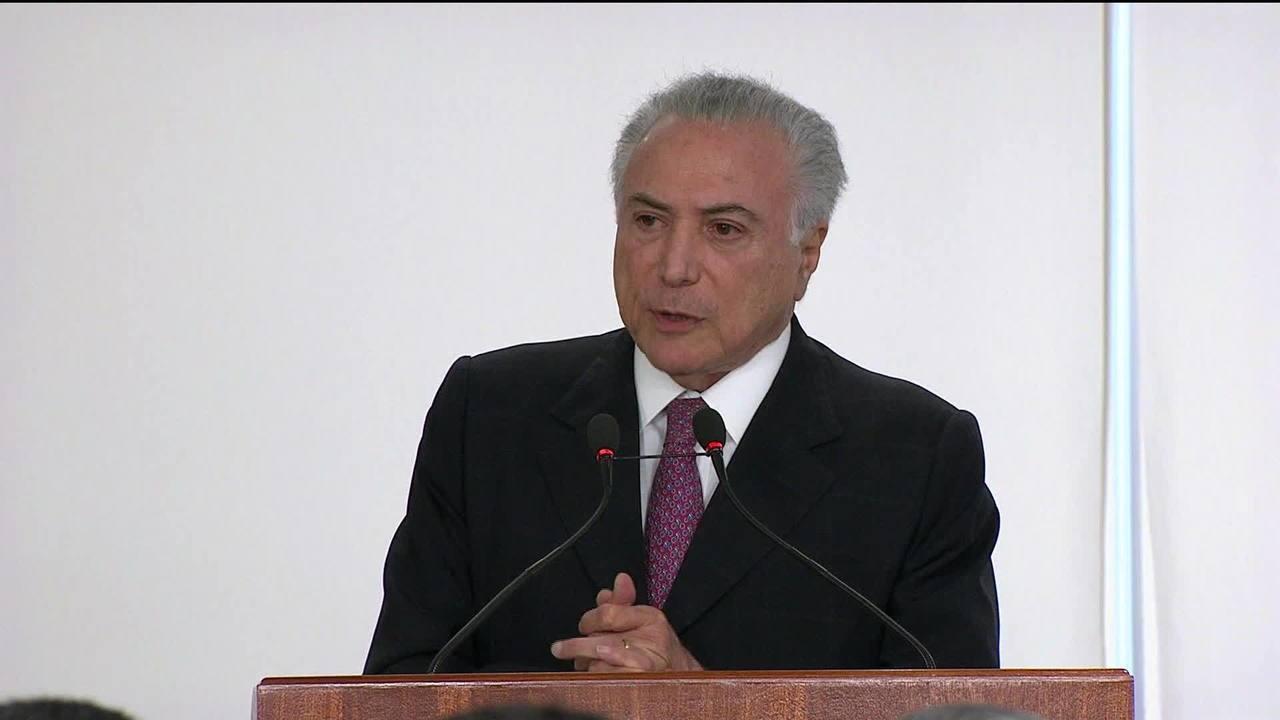 Michel Temer considera 'intolerável' ataque a Jair Bolsonaro