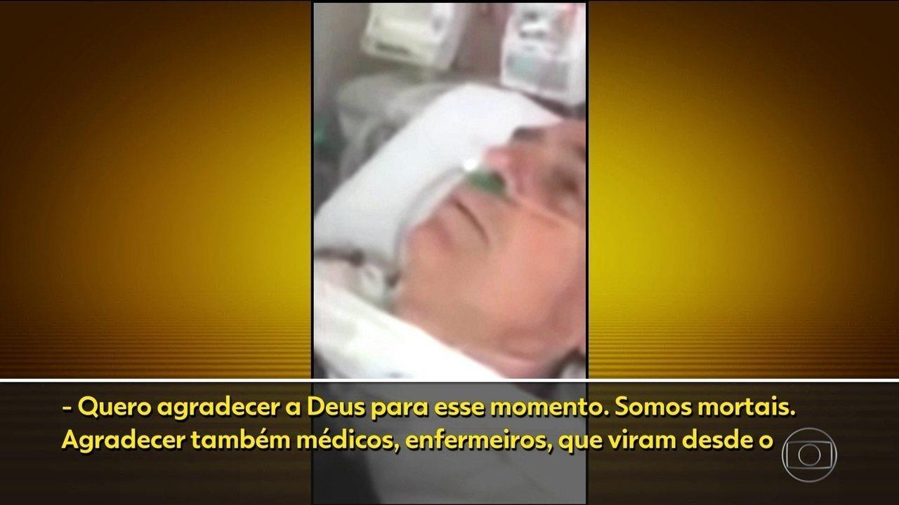 Jair Bolsonaro tem quadro estável e grava vídeo após a cirurgia