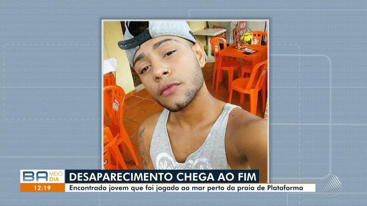 Encontrado corpo do jovem que foi jogado ao mar perto da praia de Plataforma, em Salvador