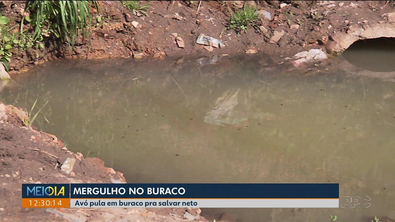 Menino de 2 anos cai em buraco aberto pela prefeitura de Colombo e Sanepar