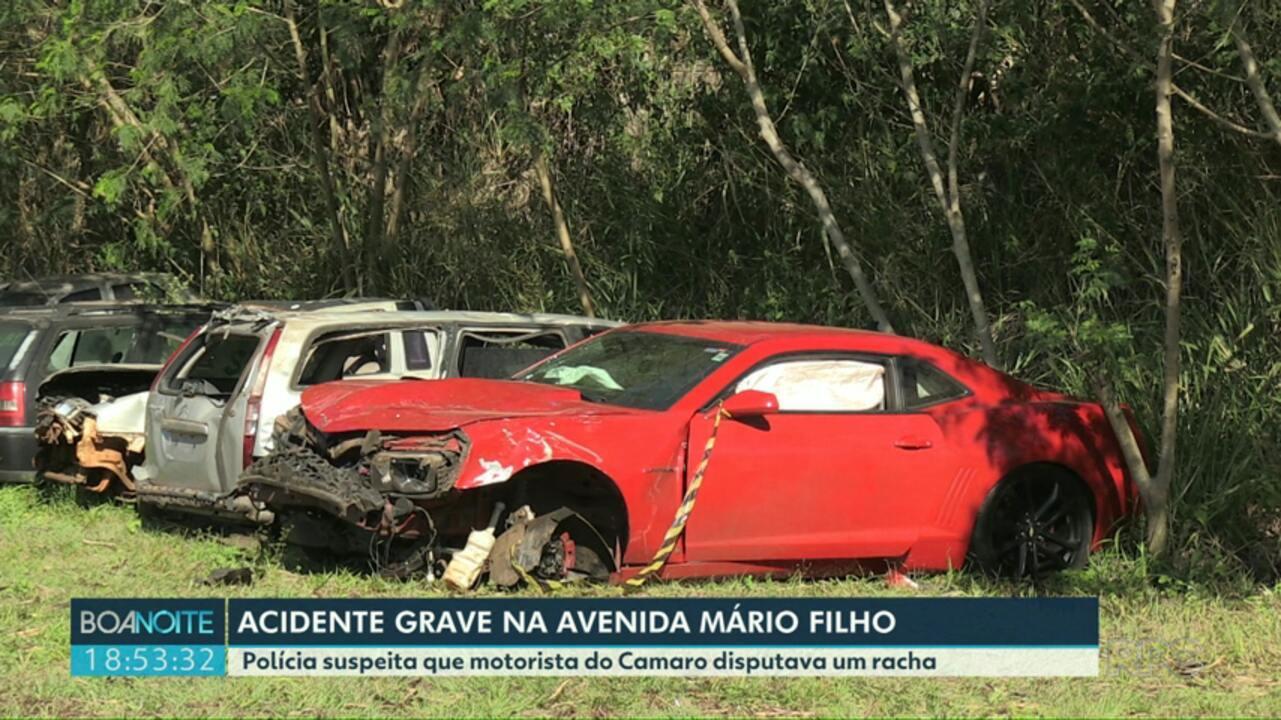 Polícia procura por motorista de camaro que provocou um grave acidente