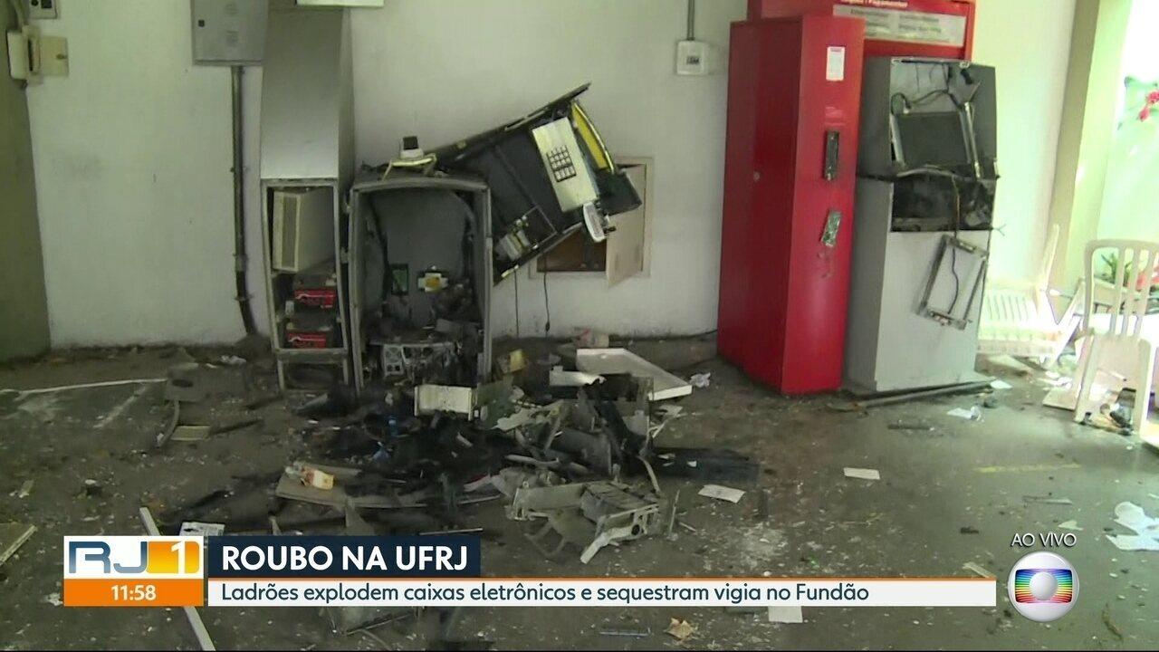 Bandidos explodem caixas eletrônicos na UFRJ