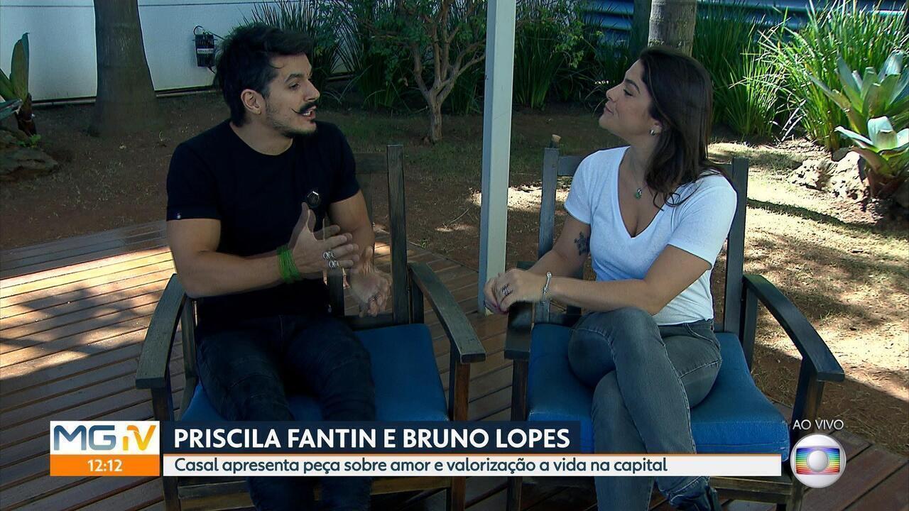 Priscila Fantin e Bruno Lopes encenam peça neste fim de semana em BH