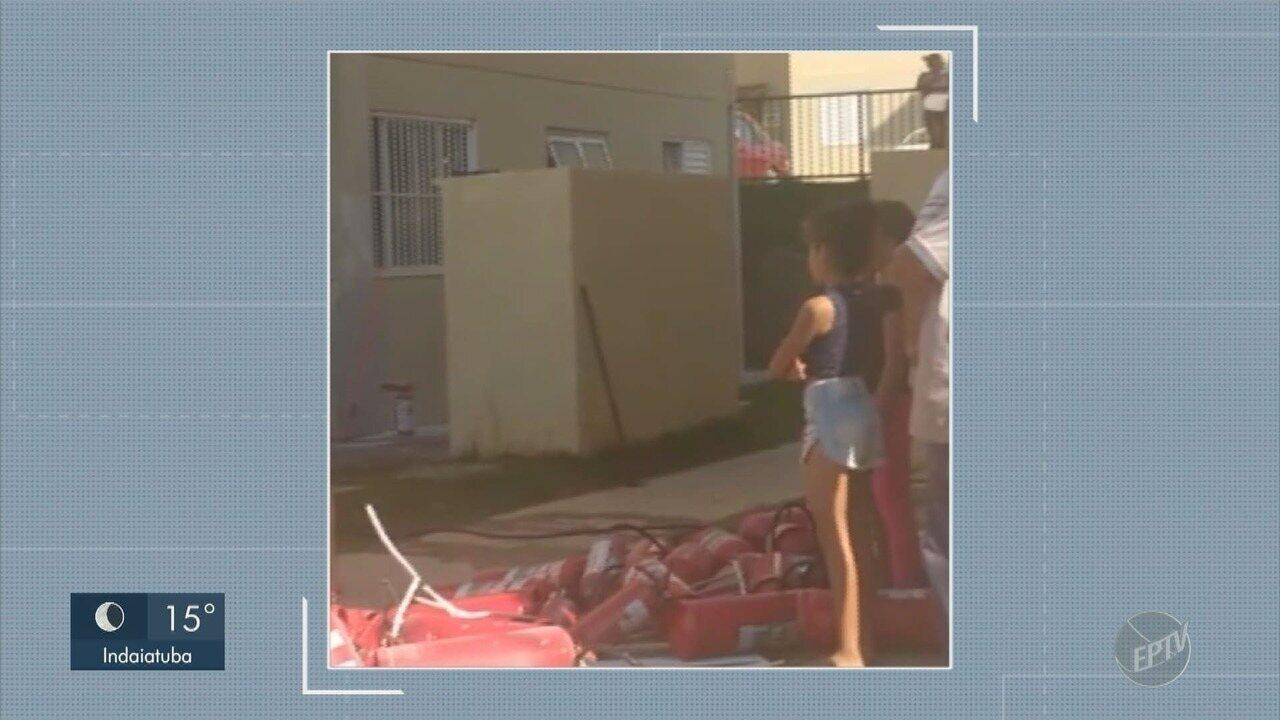 Incêndio em apartamento de Hortolândia mobiliza Bombeiros e moradores