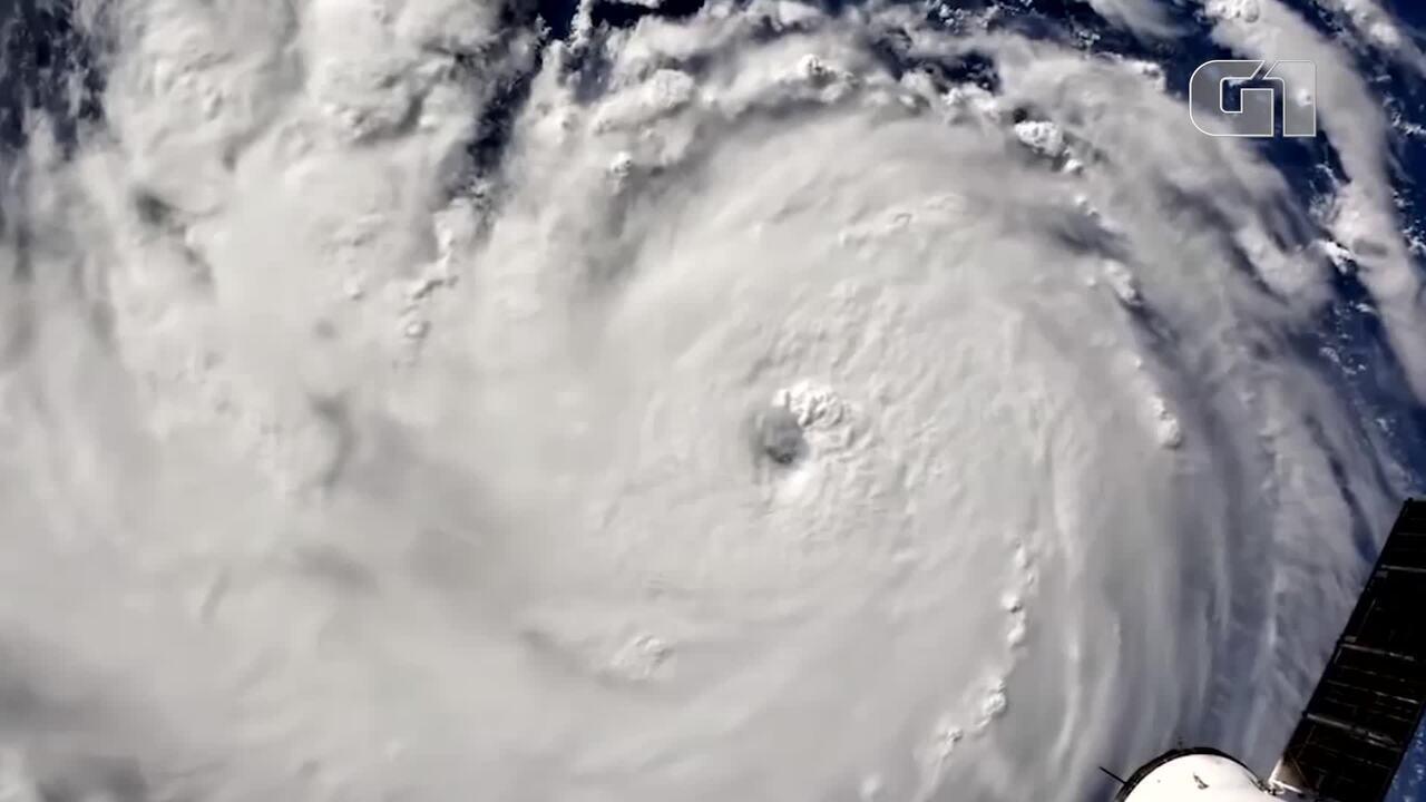 Nasa divulga imagens do furacão Florence feitas da Estação Espacial Internacional