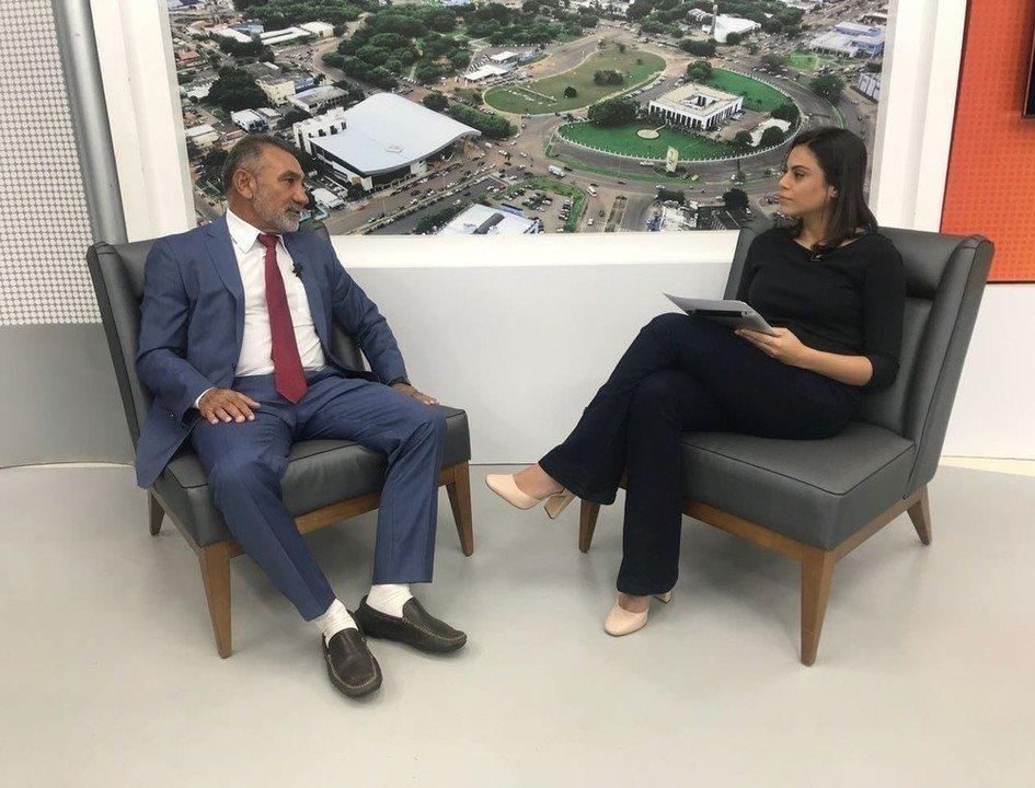 Candidato Telmário Mota é entrevistado no Jornal de Roraima - 1ª Edição