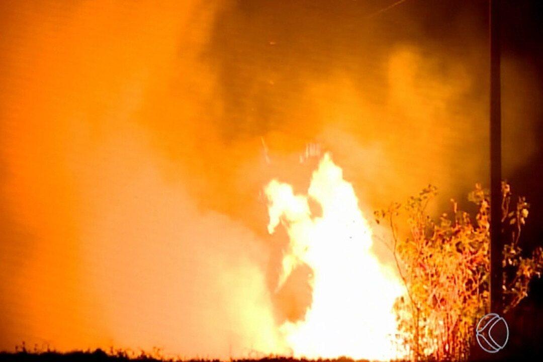 Bombeiros controlam incêndio que destruiu vegetação na região da AMG-2595 em Uberaba