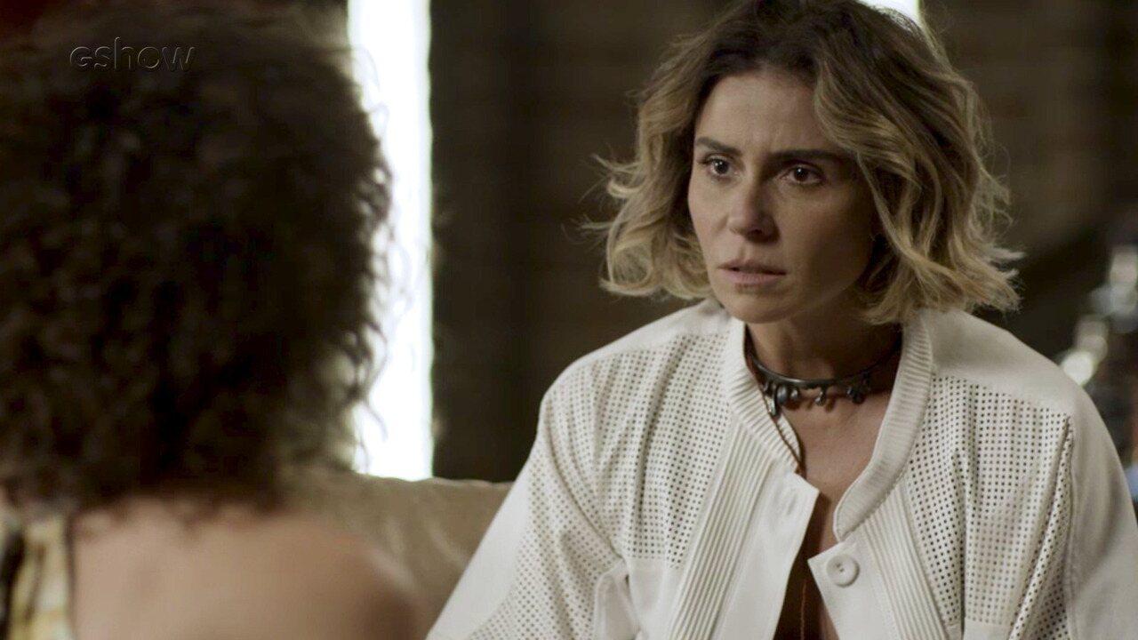 Resumo Segundo Sol – 14/9 – Luzia diz a Cacau que vai escrever uma carta para Beto