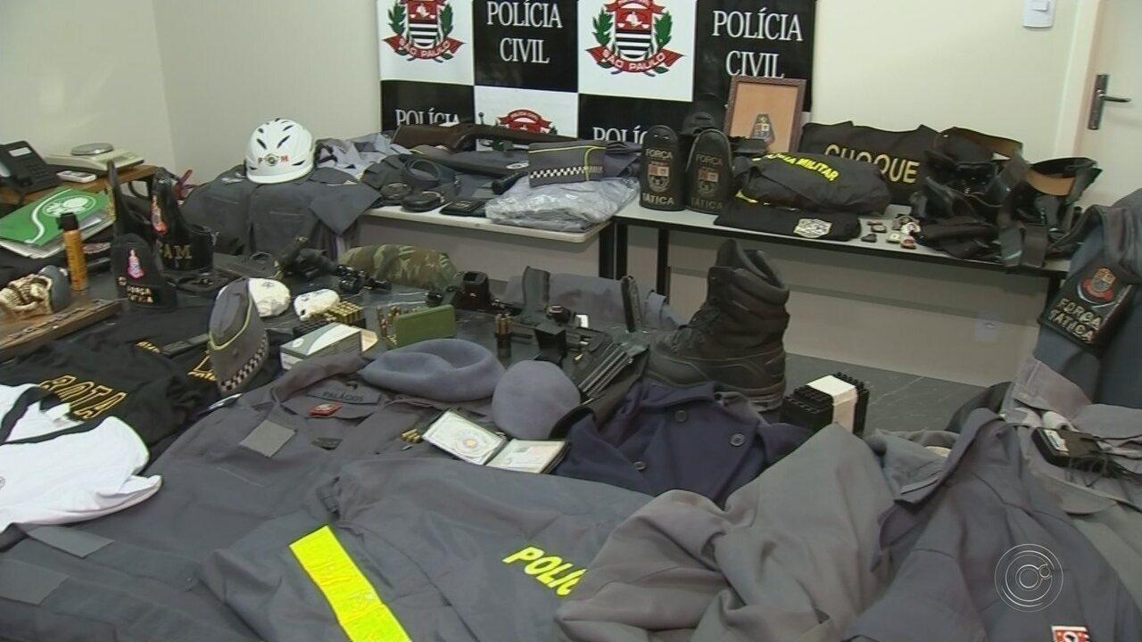 Dupla é presa suspeita de usar uniformes da PM para extorquir traficantes em Sorocaba