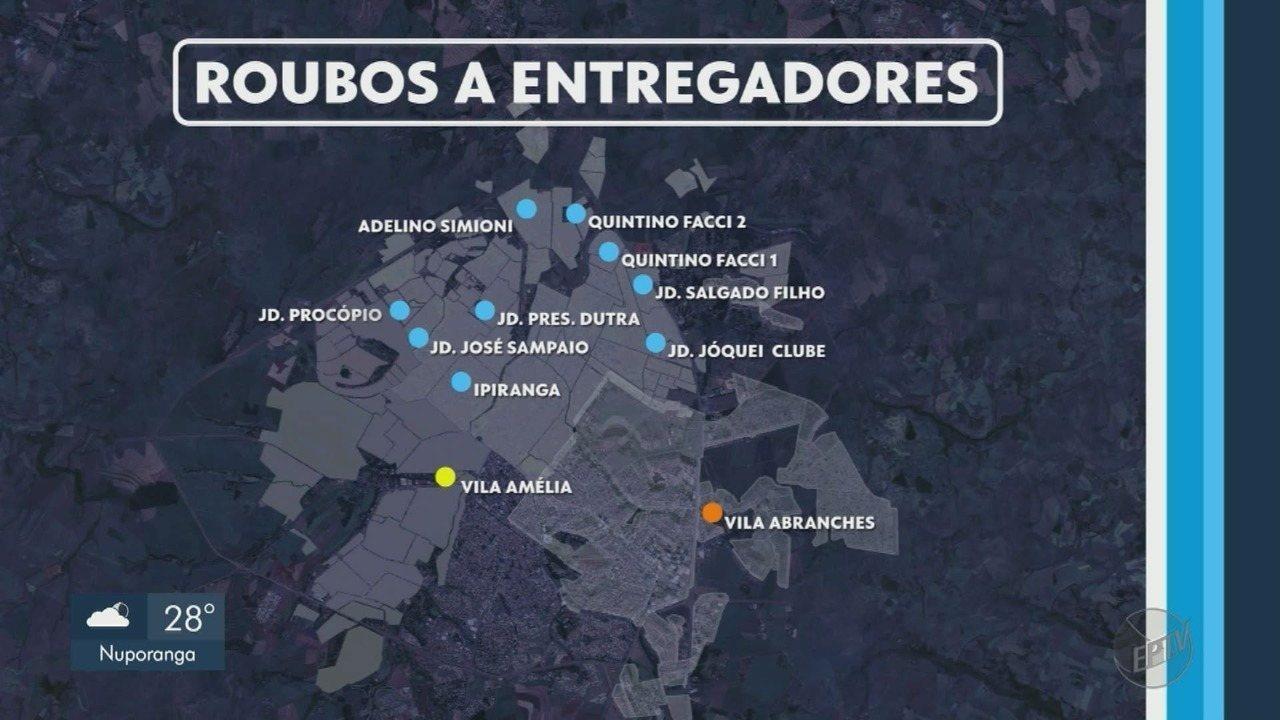 Bairros da Zona Norte registram mais assaltos contra entregadores em Ribeirão Preto, SP