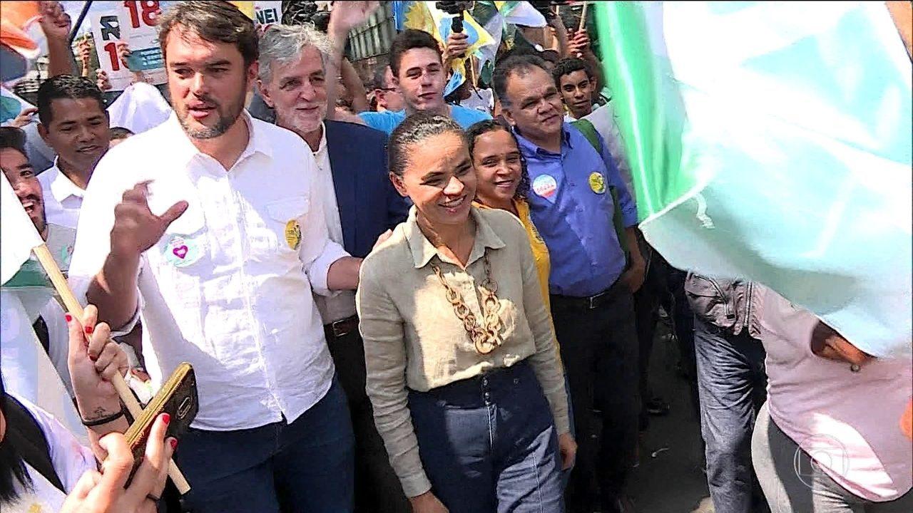 Candidata da Rede, Marina Silva faz campanha em Minas Gerais