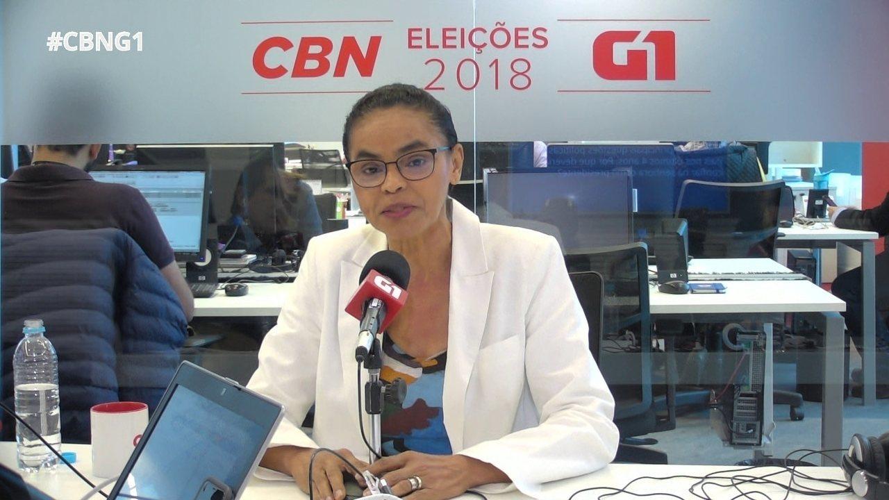 Candidata da Rede fala sobre tom da campanha, apoio ao PSDB e queda nas pesquisas