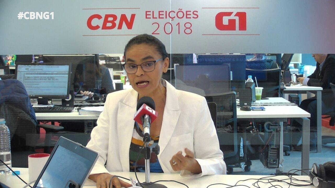 Marina Silva fala sobre teto de gastos, superávit primário e Previdência