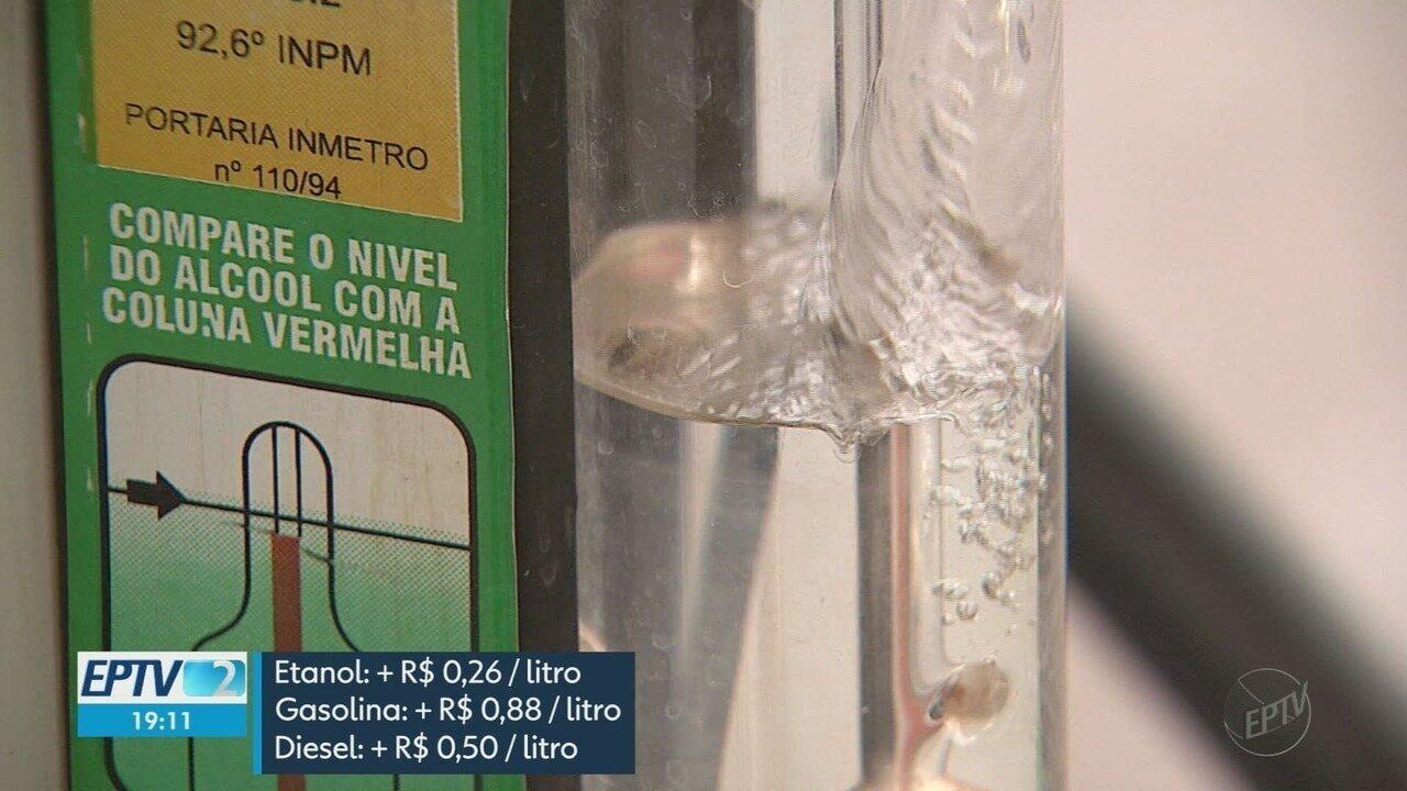 Disparada do dólar afeta preço do combustível nas bombas em Ribeirão Preto