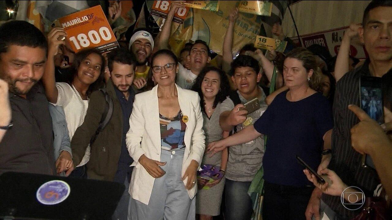 Candidata da Rede, Marina Silva, faz campanha em Brasília e São Paulo