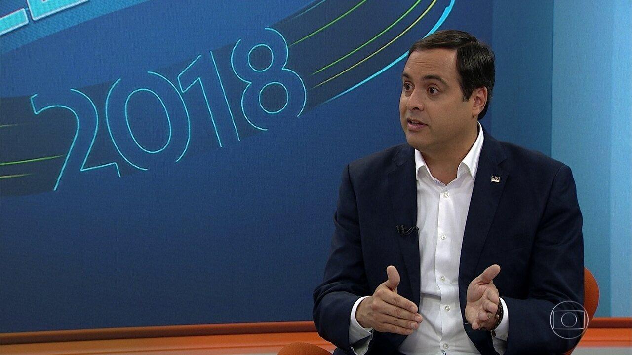 Paulo Câmara, do PSB, é entrevistado pelo NE1