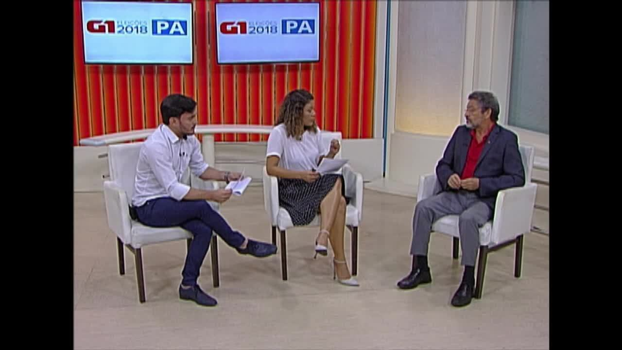 Veja a entrevista do candidato ao governo do Pará Paulo Rocha ao G1 Pará