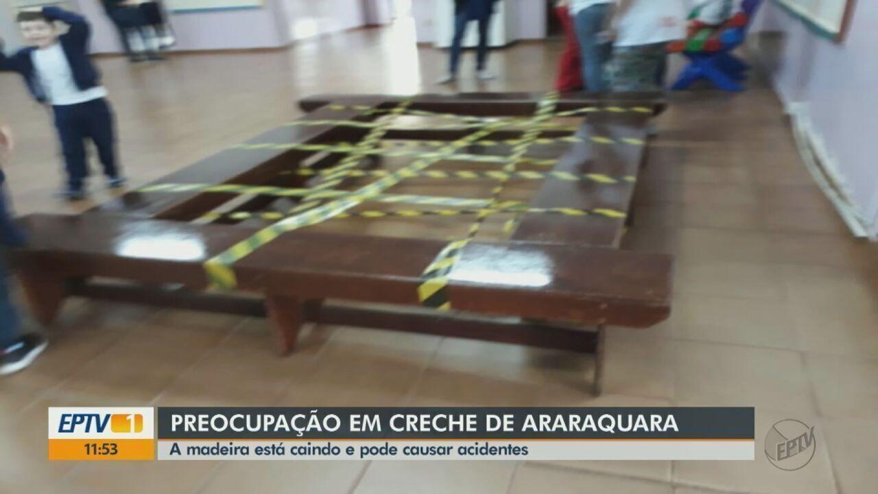Pais reclamam da falta de manutenção de creche em Araraquara, SP