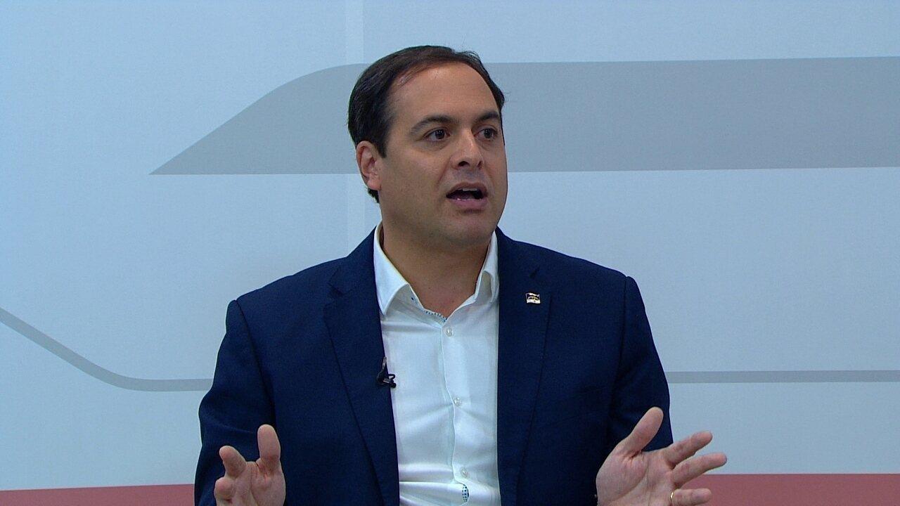 Assista à íntegra da entrevista do candidato Paulo Câmara, do PSB, ao G1