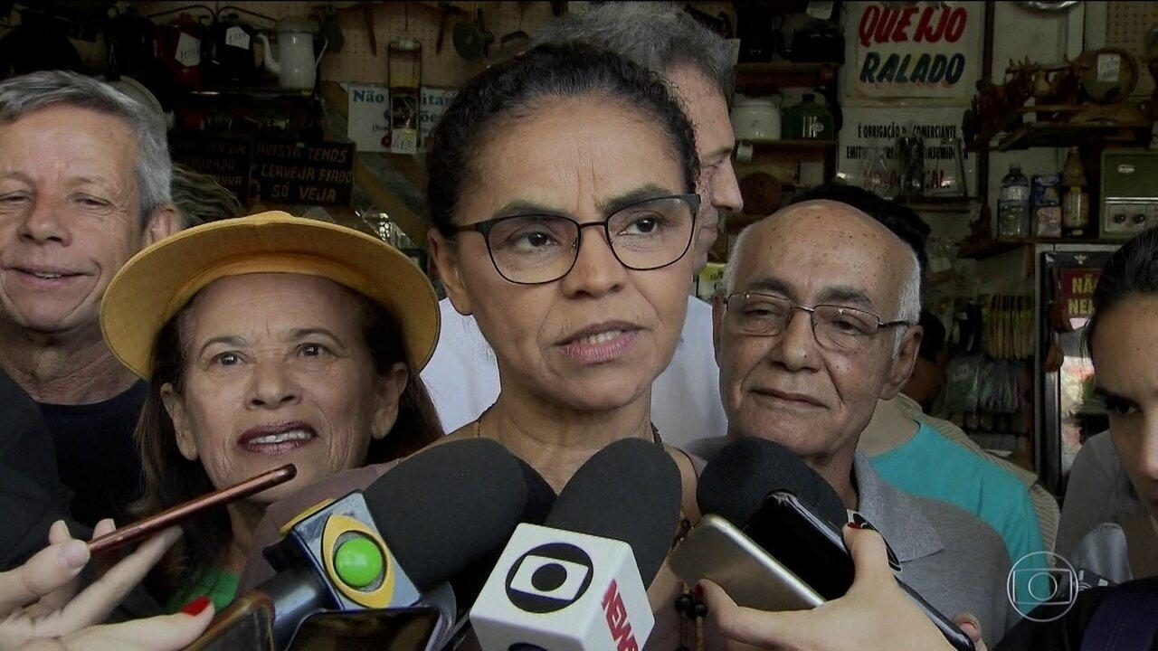 Candidata da Rede, Marina Silva, faz campanha no Distrito Federal
