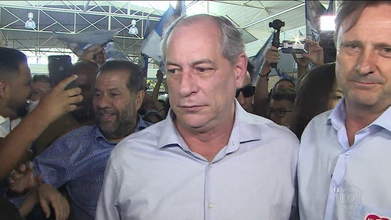 Candidato do PDT, Ciro Gomes, faz campanha em 3 estados do Norte