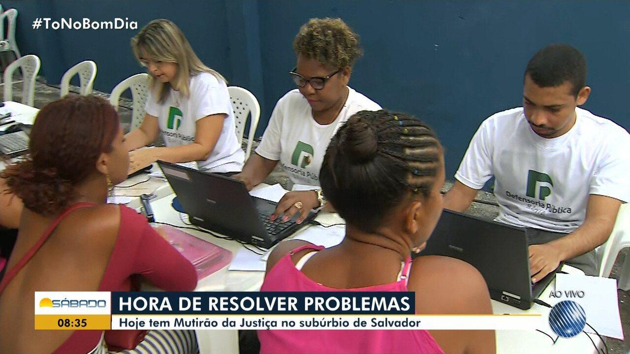 Mutirão jurídico leva serviços gratuitos ao subúrbio de Salvador