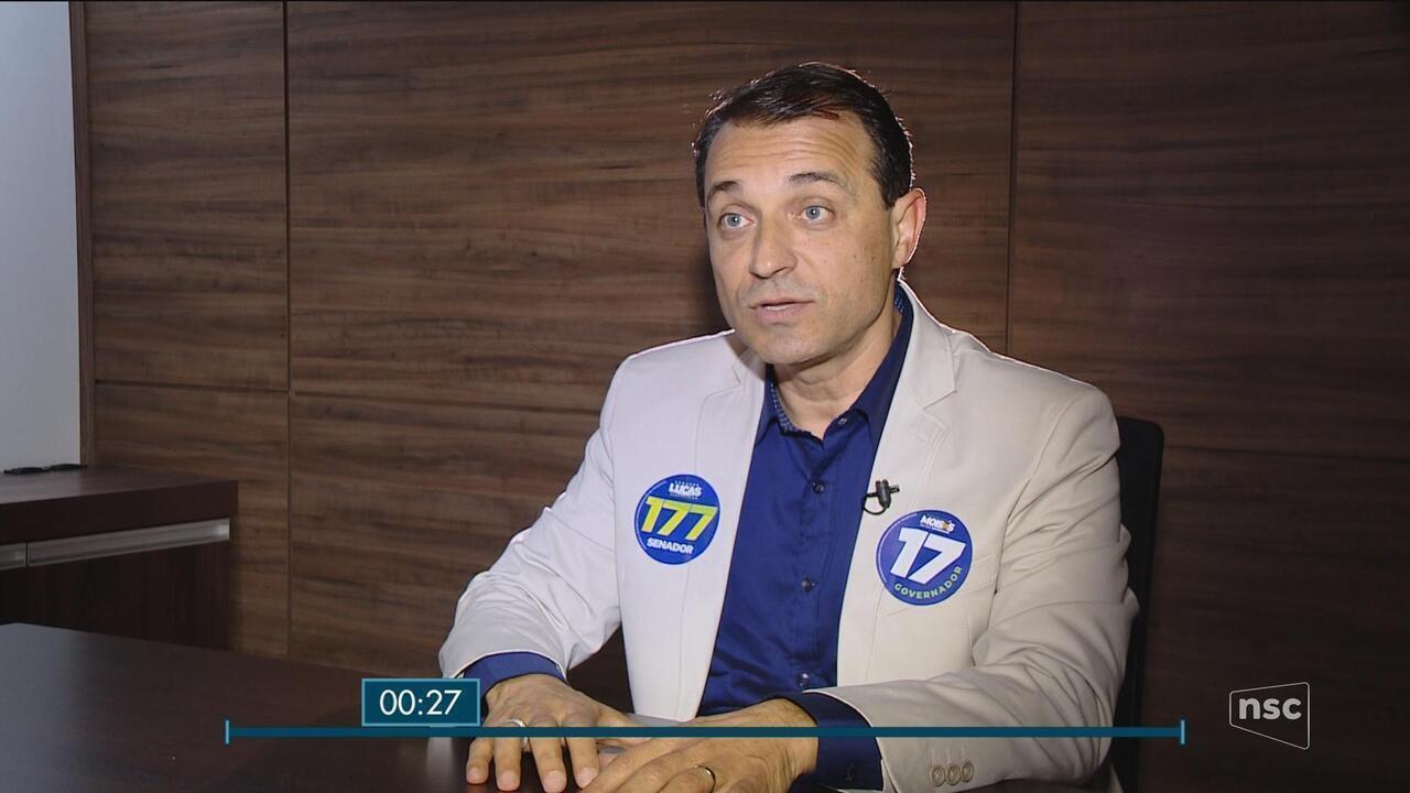 Comandante Moisés (PSL) é o entrevistado do Jornal do Almoço