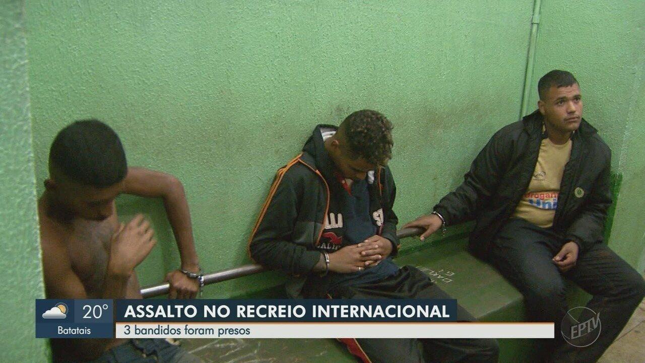 Trio é preso por suspeita de assaltar chácara do filho de ex-jogador do Botafogo-SP