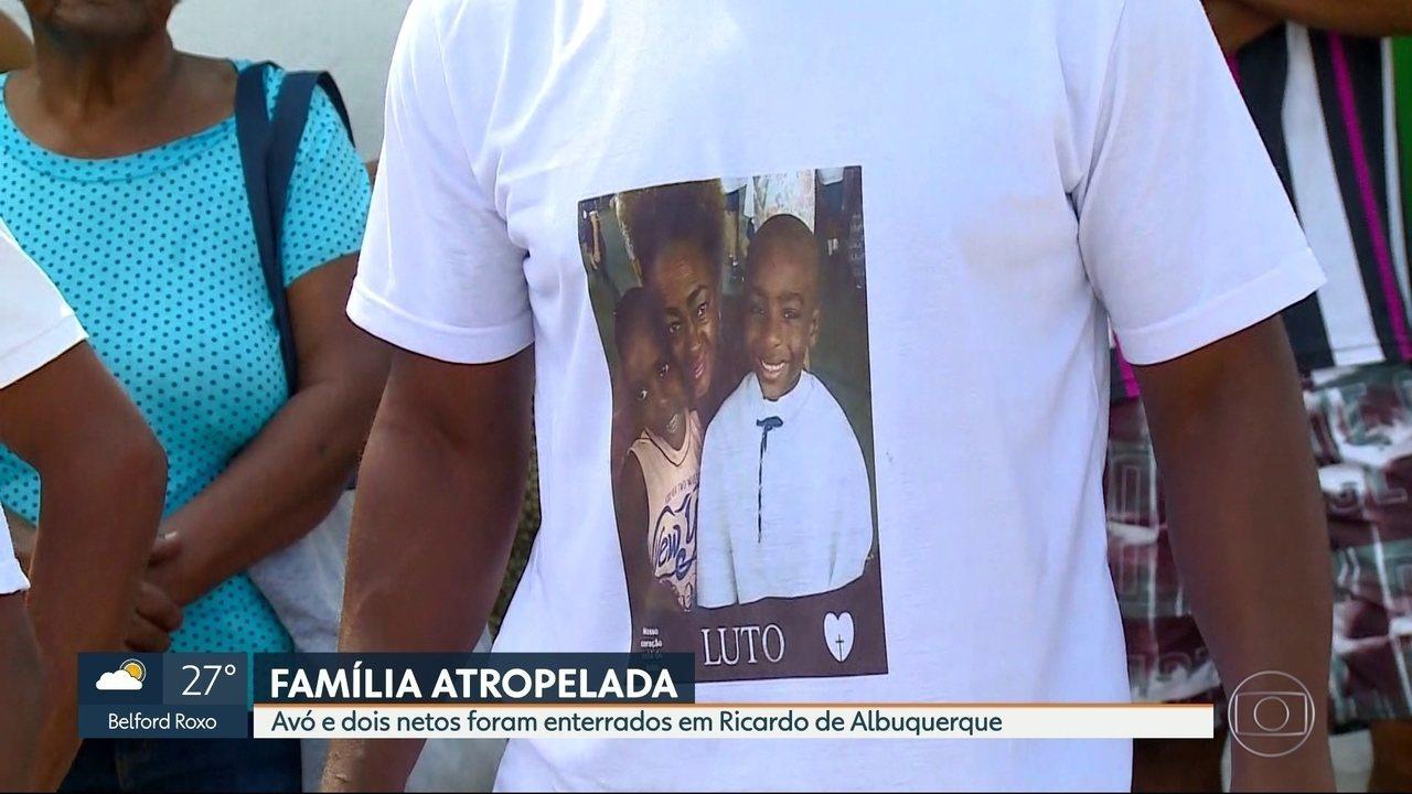 Avó e dois netos são enterrados depois de serem atropelados por motorista que fugiu