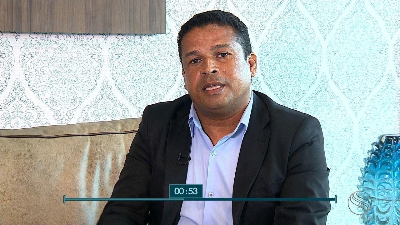 Márcio Souza, candidato ao governo de SE, é entrevistada no SETV1ª Edição