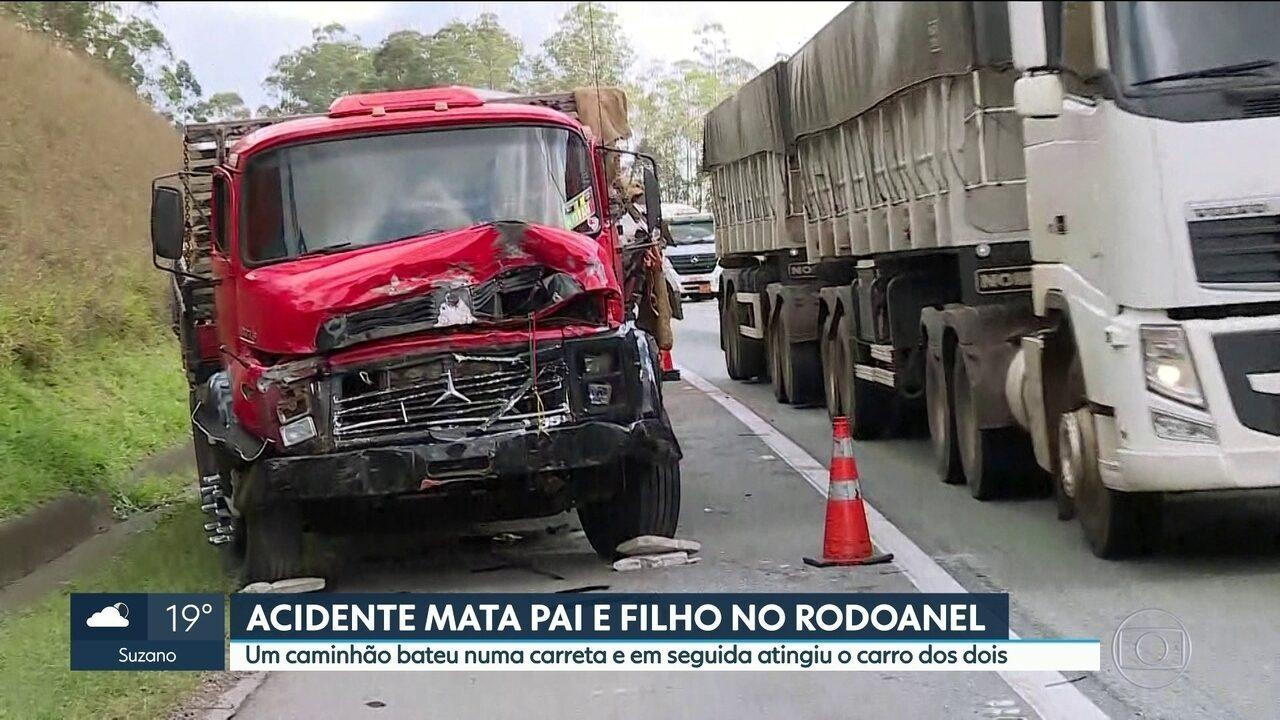 Pai e filho morrem em acidente no Rodoanel