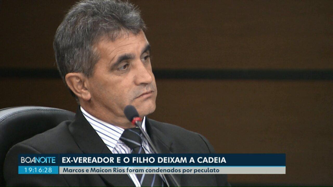 Ex-vereador Marcos Rios e o filho dele saem da cadeia
